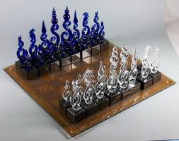 My partner and teacher one of many of his chess sets