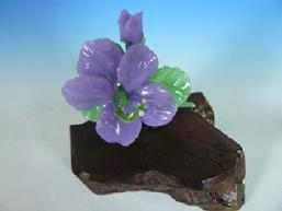 Boro Glass, Purple Hibiscus